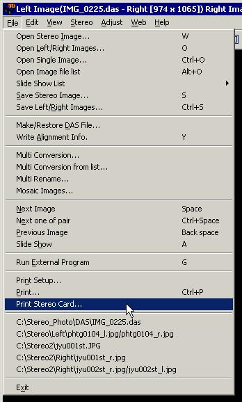 select menufileprint stereo card